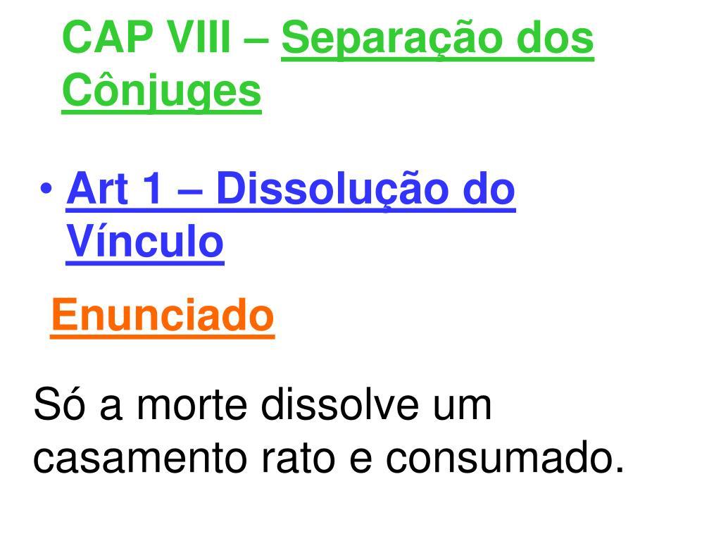CAP VIII –