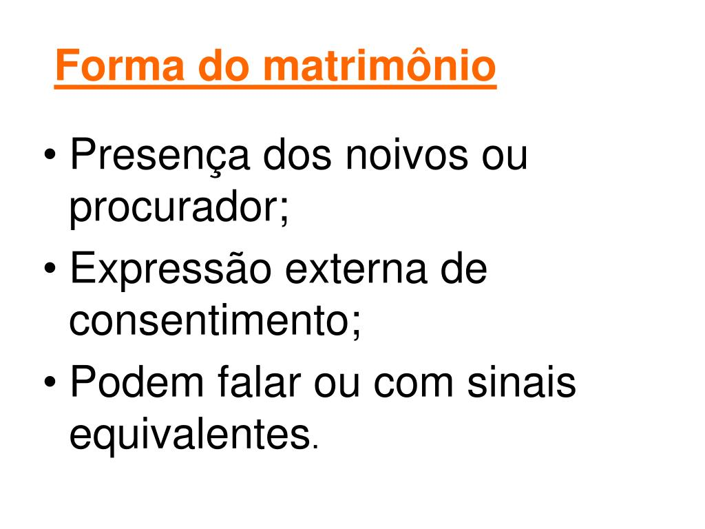 Forma do matrimônio