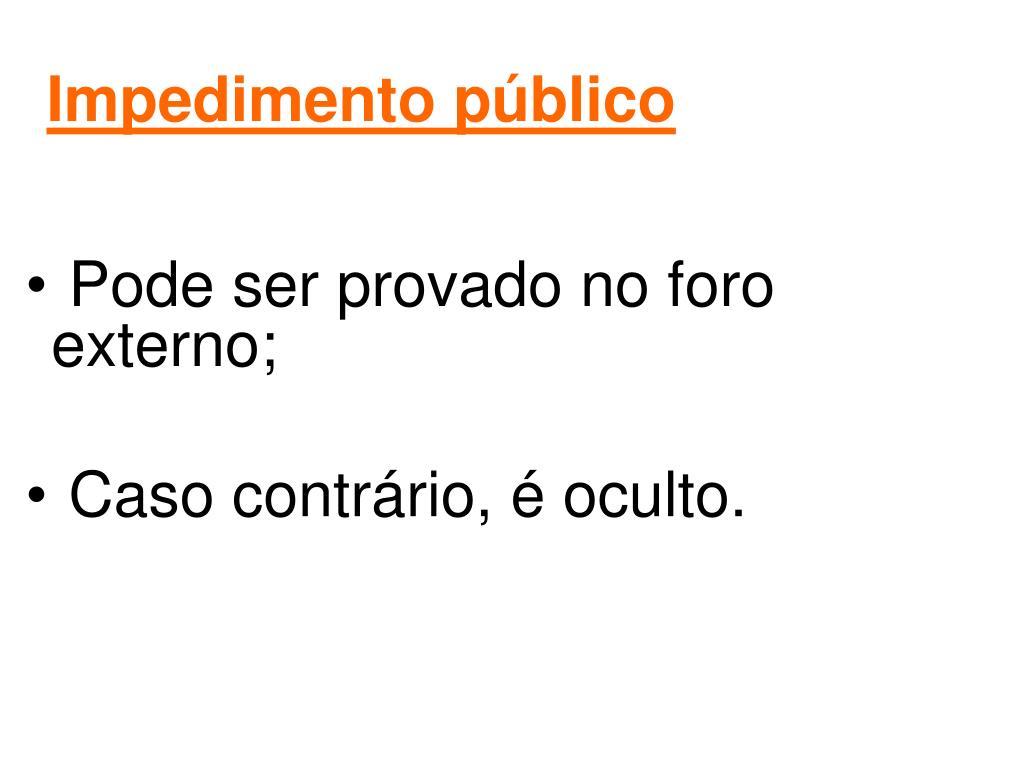 Impedimento público