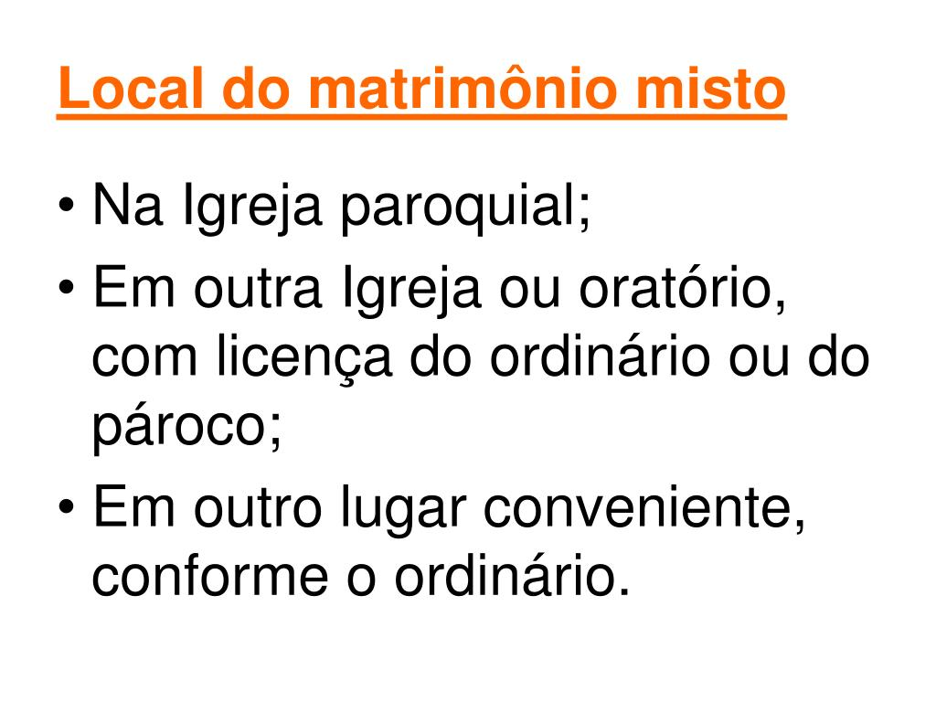 Local do matrimônio misto