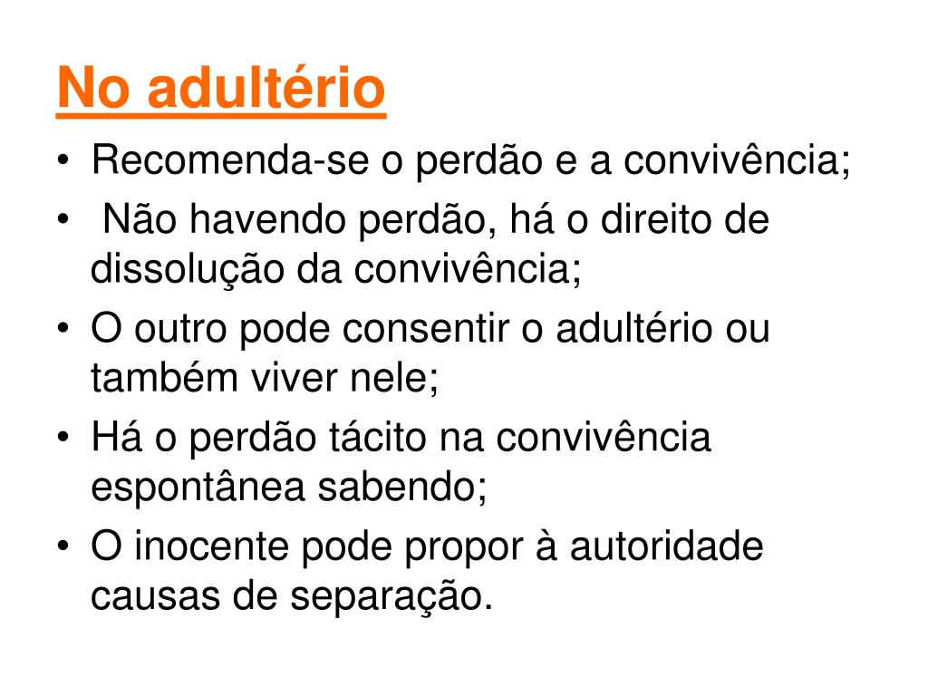 No adultério