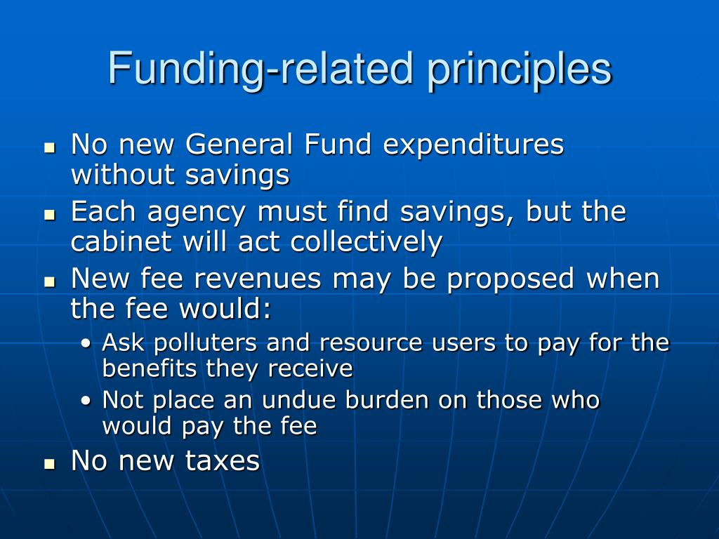 Funding-related principles