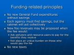 funding related principles