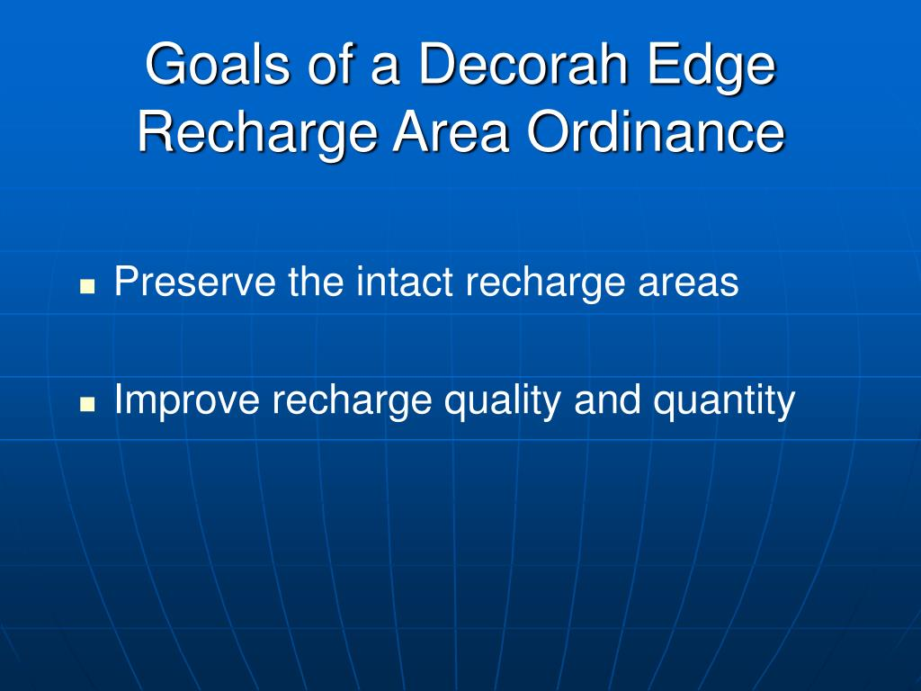 Goals of a Decorah Edge