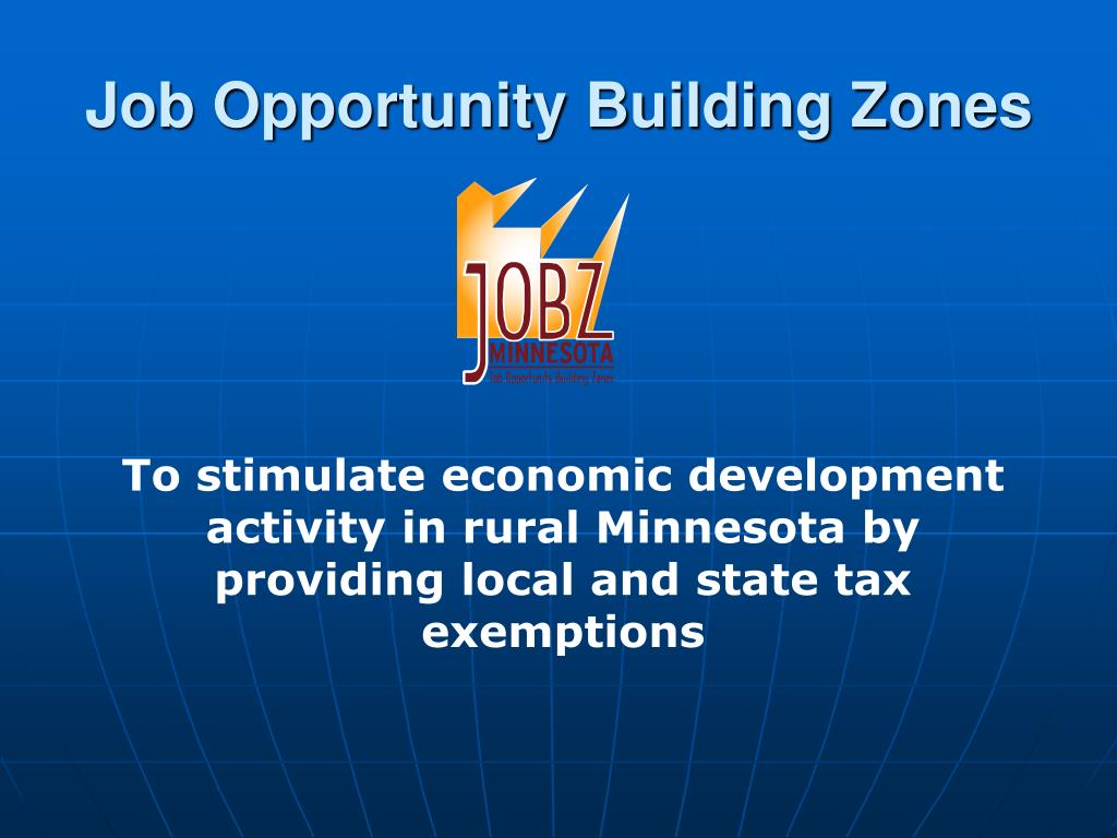 Job Opportunity Building Zones