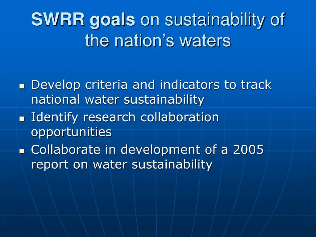 SWRR goals