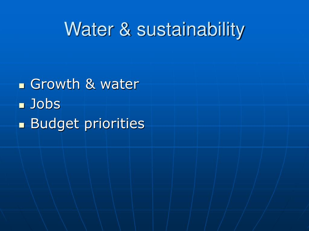 Water & sustainability