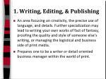 1 writing editing publishing
