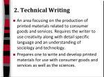 2 technical writing