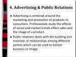 4 advertising public relations