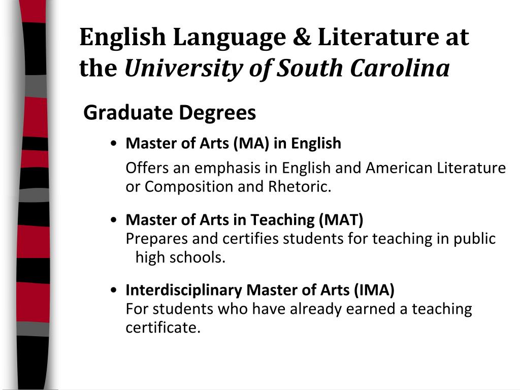 English Language & Literature at     the