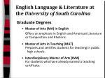 english language literature at the university of south carolina12