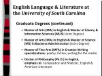 english language literature at the university of south carolina13