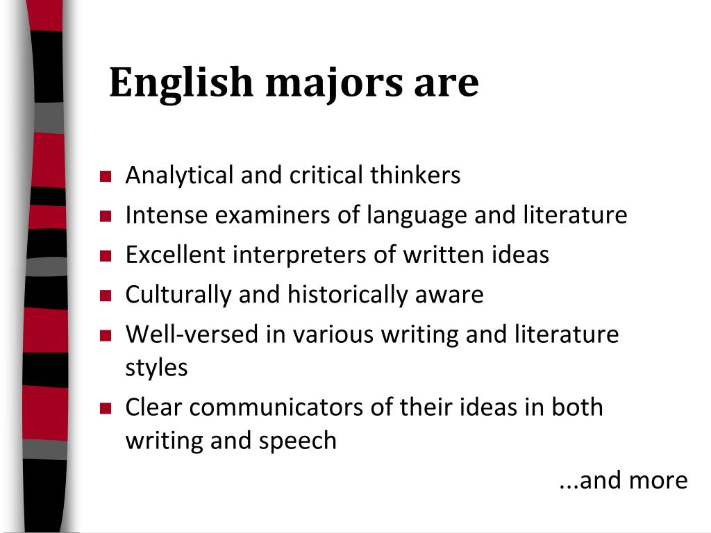 English majors are
