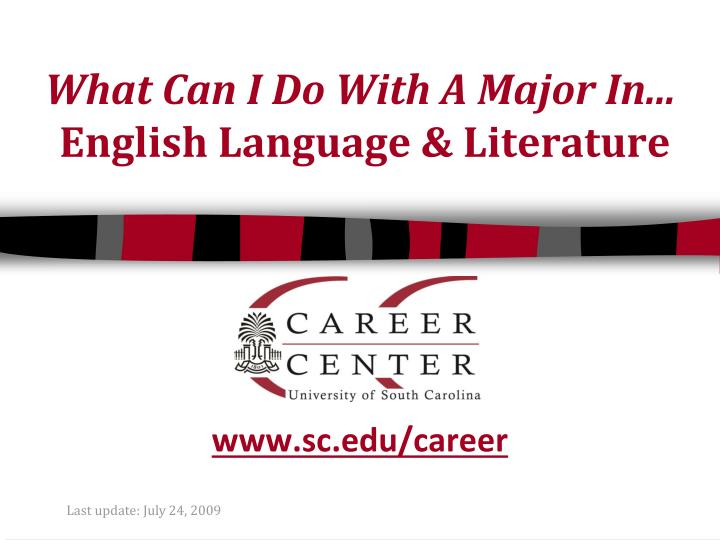 What can i do with a major in english language literature