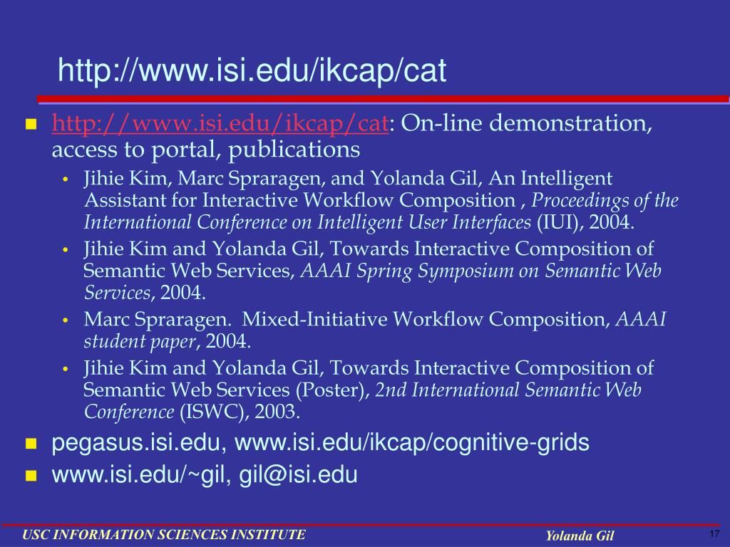 http://www.isi.edu/ikcap/cat
