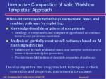 interactive composition of valid workflow templates approach