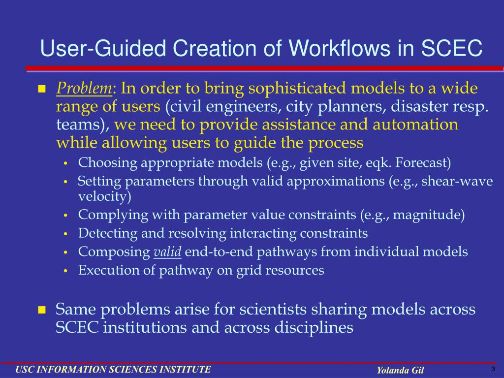 User-Guided Creation of Workflows in SCEC