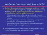 user guided creation of workflows in scec