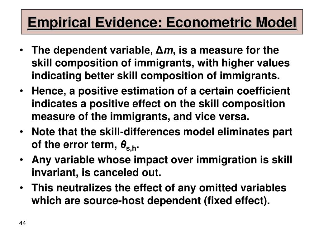 Empirical Evidence: Econometric Model