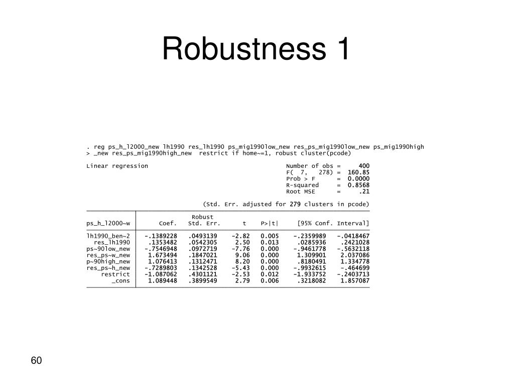 Robustness 1