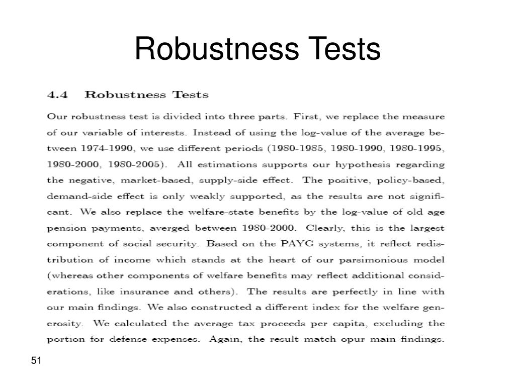 Robustness Tests
