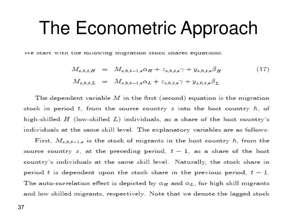 The Econometric Approach