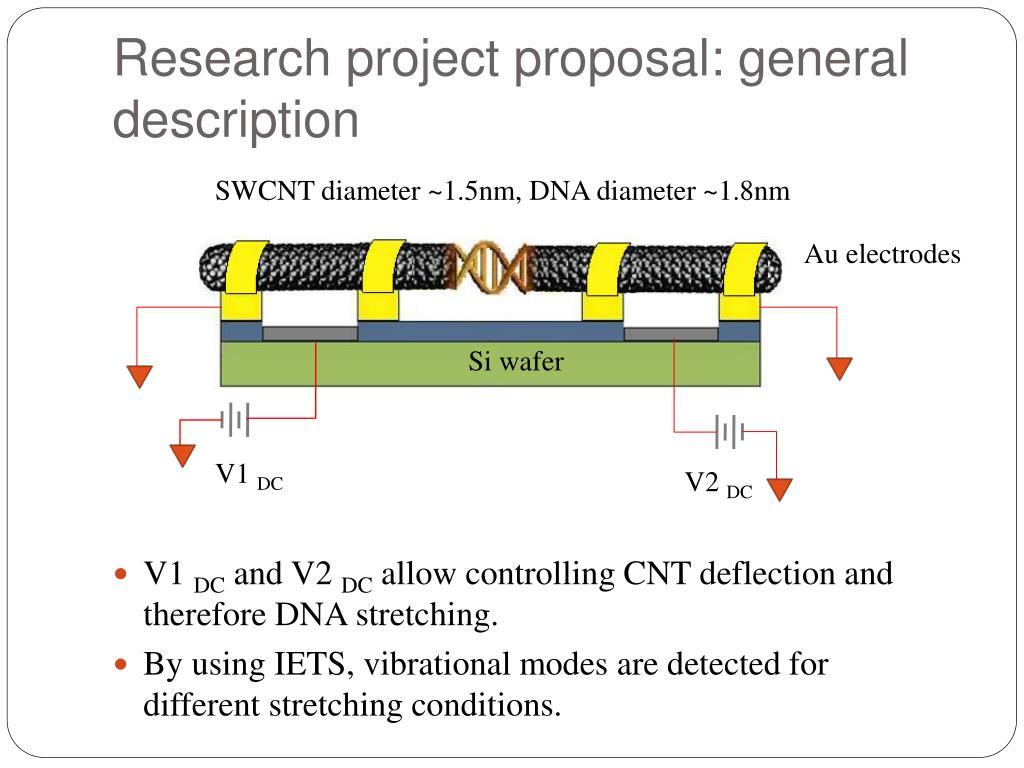 Research project proposal: general description