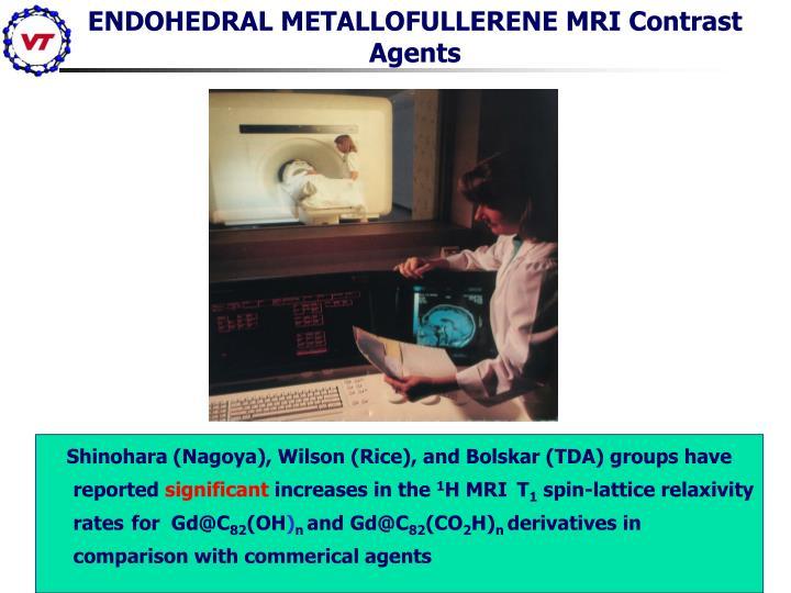 ENDOHEDRAL METALLOFULLERENE MRI Contrast Agents
