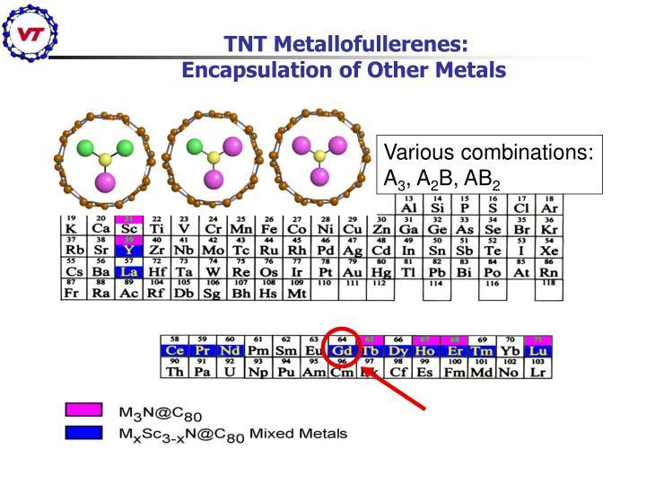 TNT Metallofullerenes: