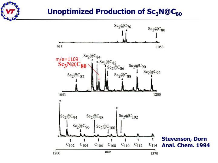 Unoptimized Production of Sc