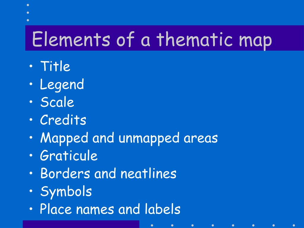 Elements of a thematic map