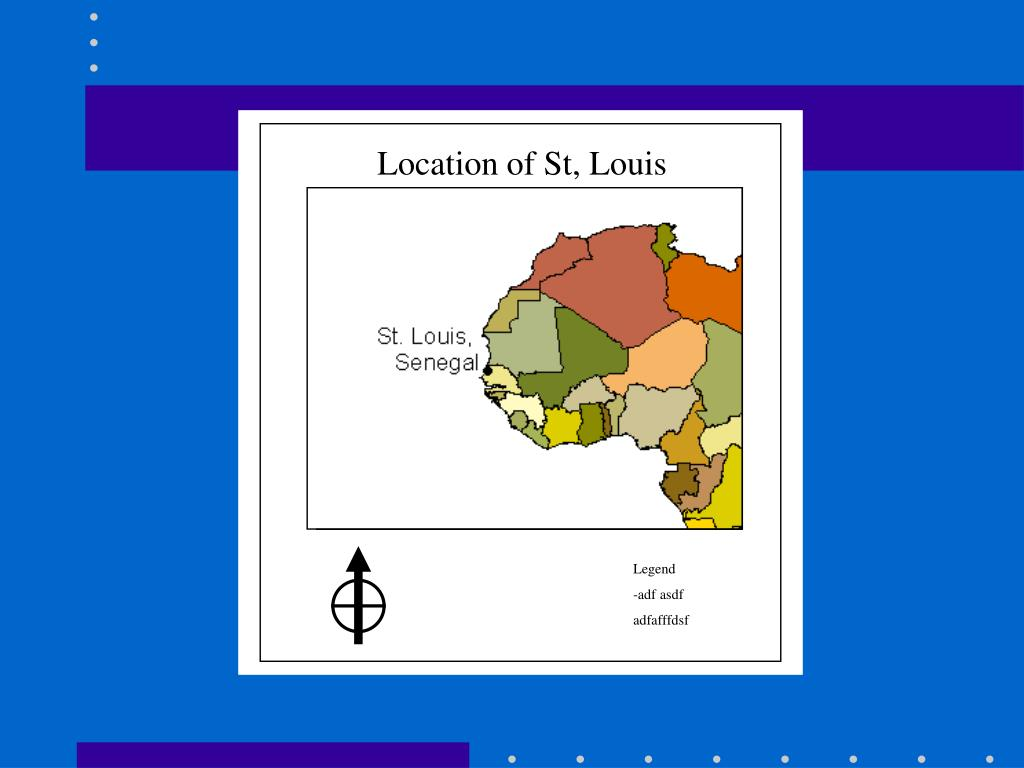 Location of St, Louis