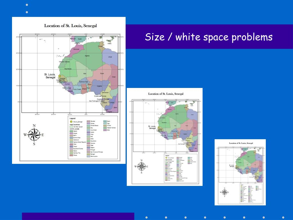 Size / white space problems