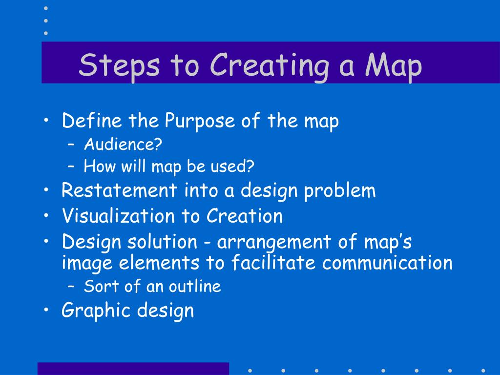 Steps to Creating a Map