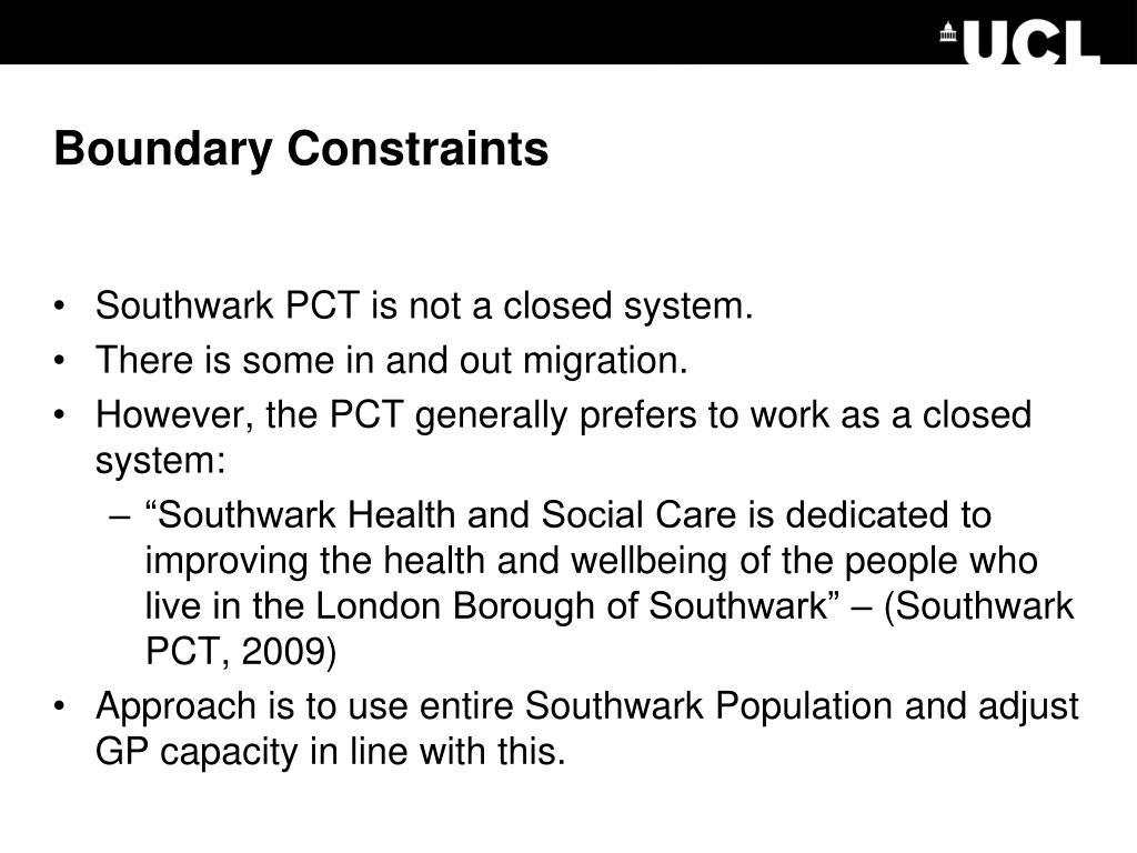 Boundary Constraints