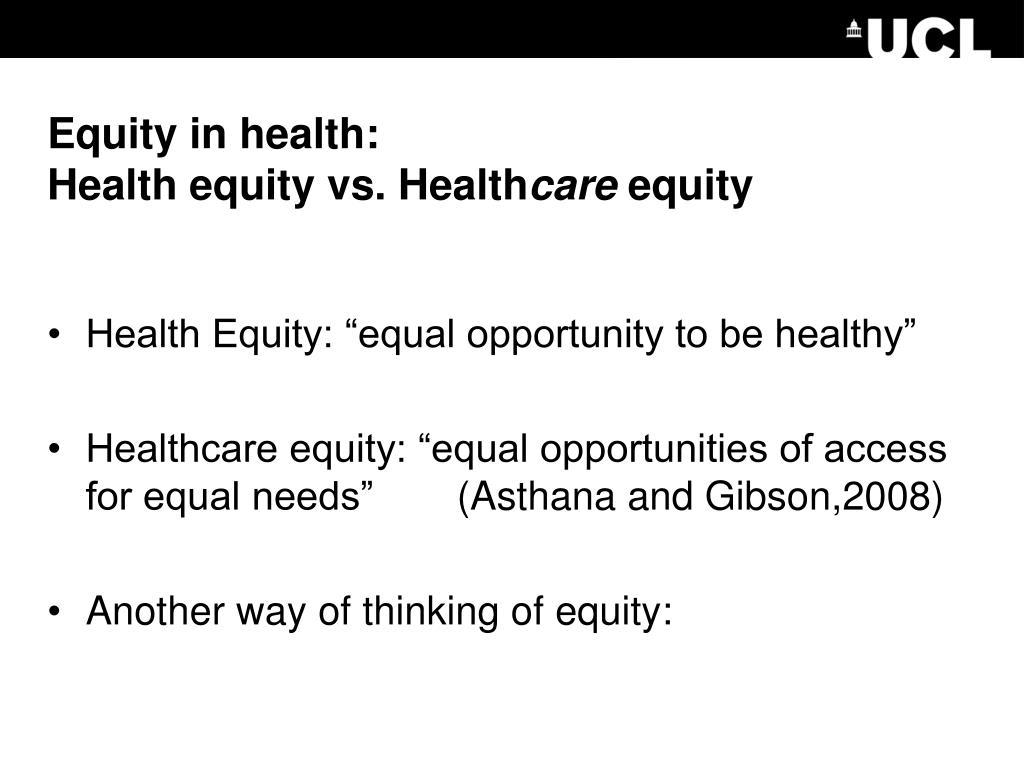 Equity in health: