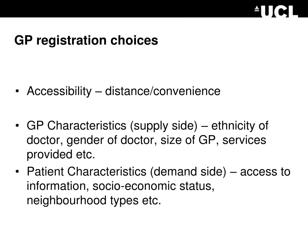 GP registration choices