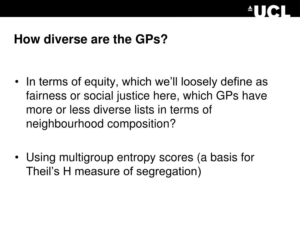 How diverse are the GPs?