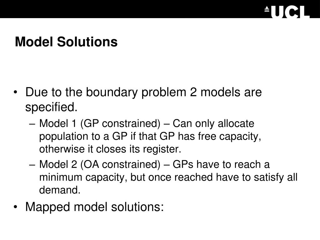 Model Solutions
