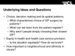underlying ideas and questions