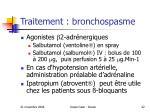traitement bronchospasme