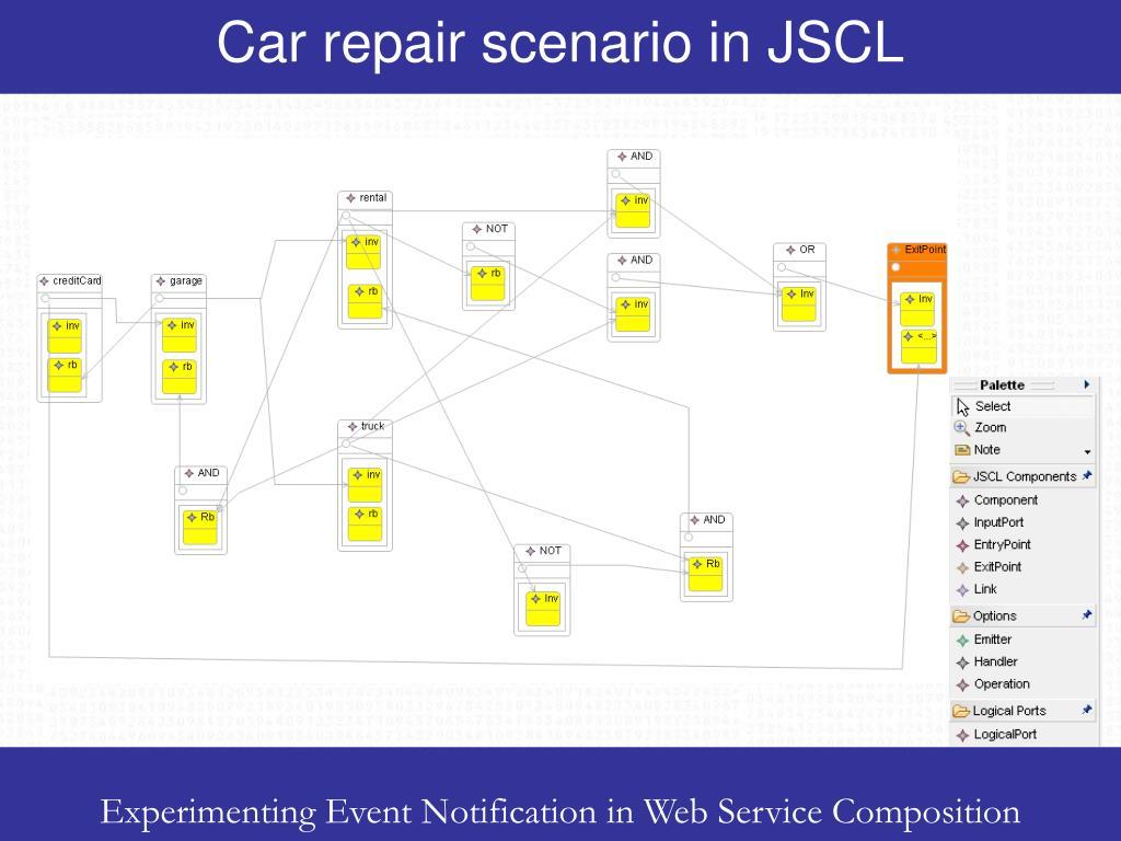 Car repair scenario in JSCL