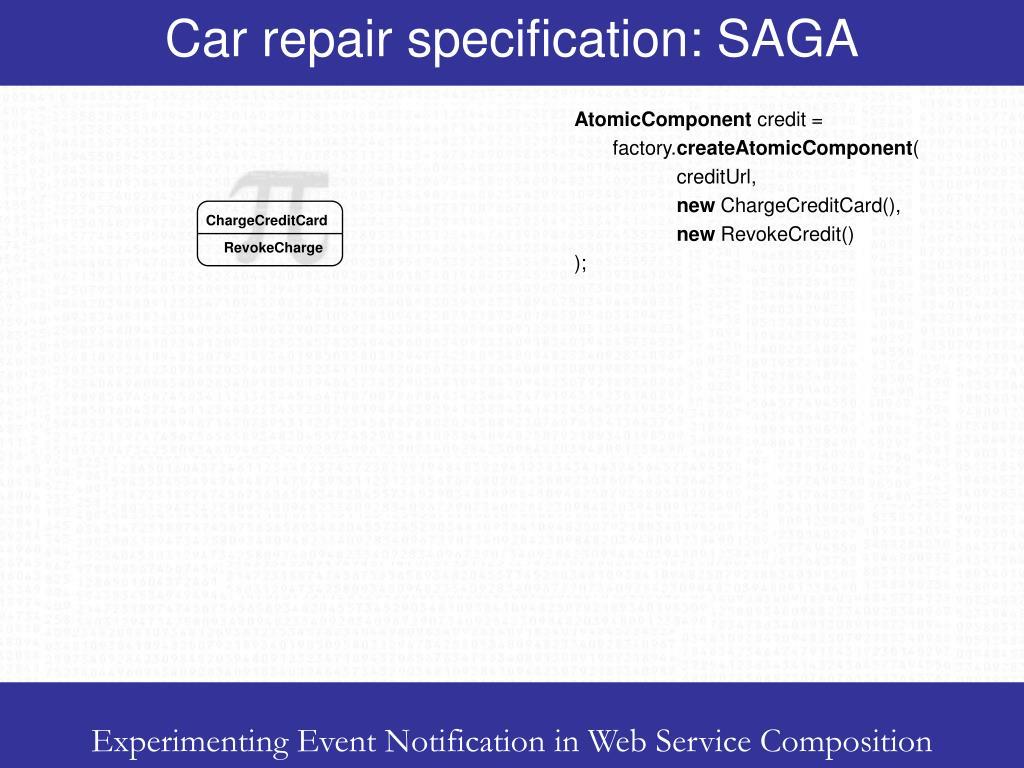 Car repair specification: SAGA