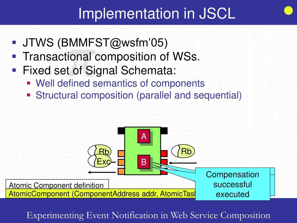 Implementation in JSCL
