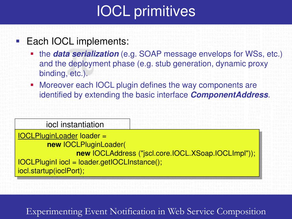 IOCL primitives
