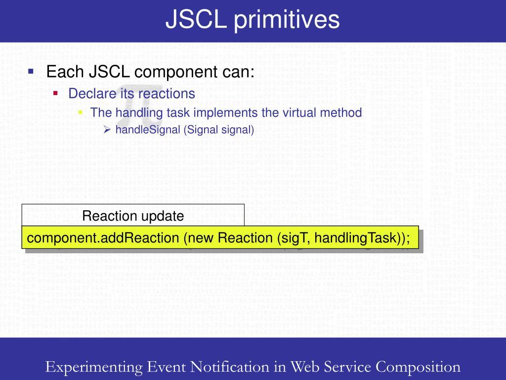 JSCL primitives