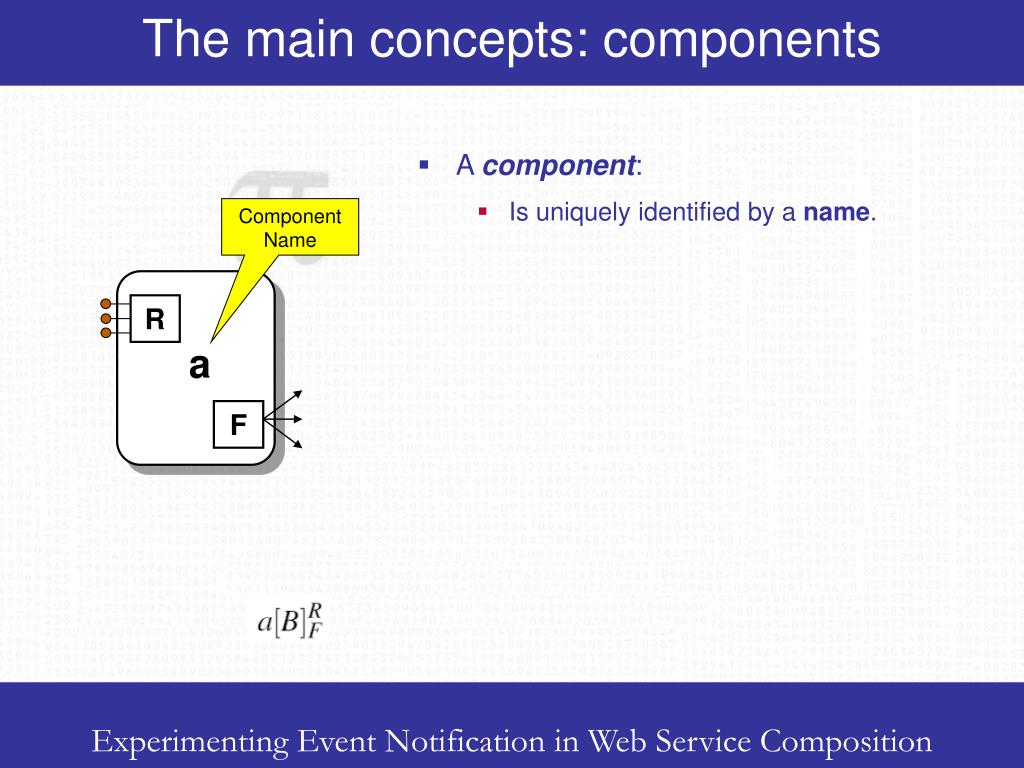 The main concepts: components