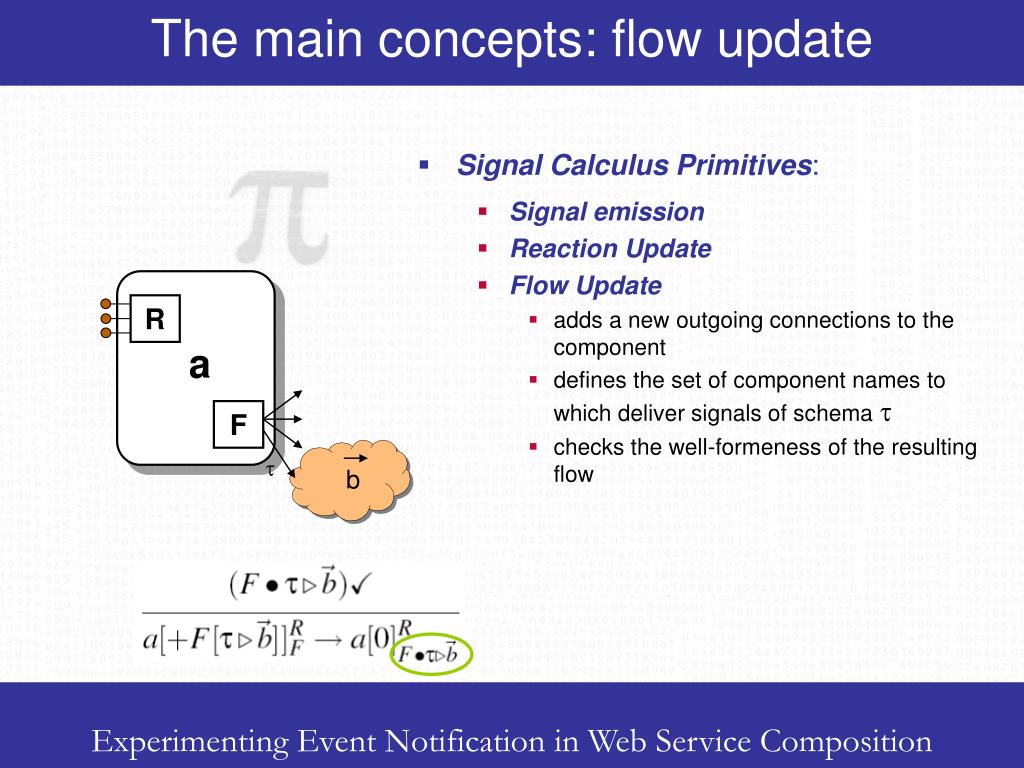 The main concepts: flow update