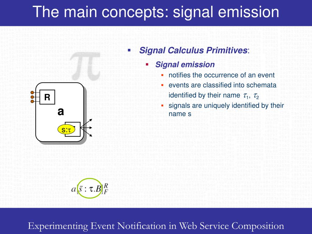 The main concepts: signal emission
